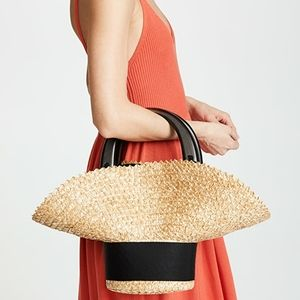 Eugenia Kim Natural Belle Tote with Zigzag Trim